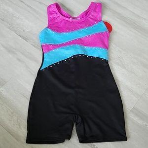 NWT FREESTYLE DANSKIN leotard shorts Size 4 & 7/8